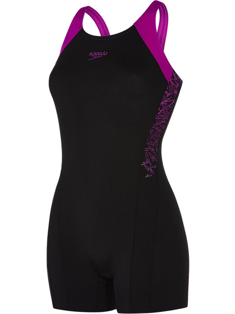 speedo Boom Splice Legsuit Women Black/Diva